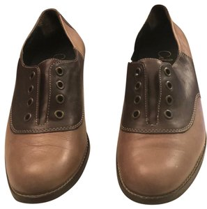 Cole Haan Brown and Tan Flats
