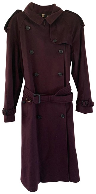 Burberry Burgundy Women Color with Tag Coat Size 6 (S) Burberry Burgundy Women Color with Tag Coat Size 6 (S) Image 1