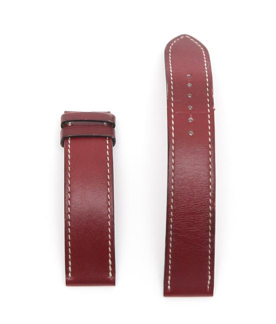 Item - Red Box Rouge Leather Strap Band White Stitching 16mm Watch