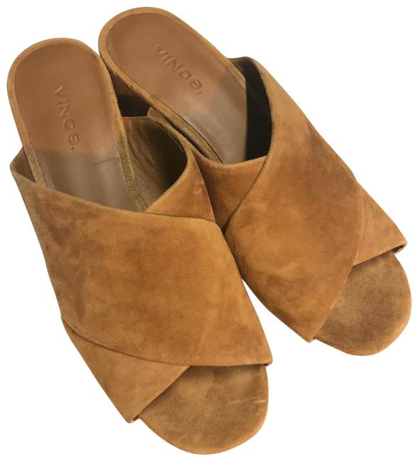 Vince Suede Slide In Sandals Size US 6 Regular (M, B) Vince Suede Slide In Sandals Size US 6 Regular (M, B) Image 1
