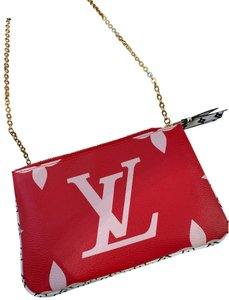 Louis Vuitton pink and red Clutch