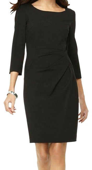 Preload https://img-static.tradesy.com/item/25556403/calvin-klein-black-womens-ruched-34-sleeve-occassion-mid-length-workoffice-dress-size-petite-10-m-0-1-650-650.jpg