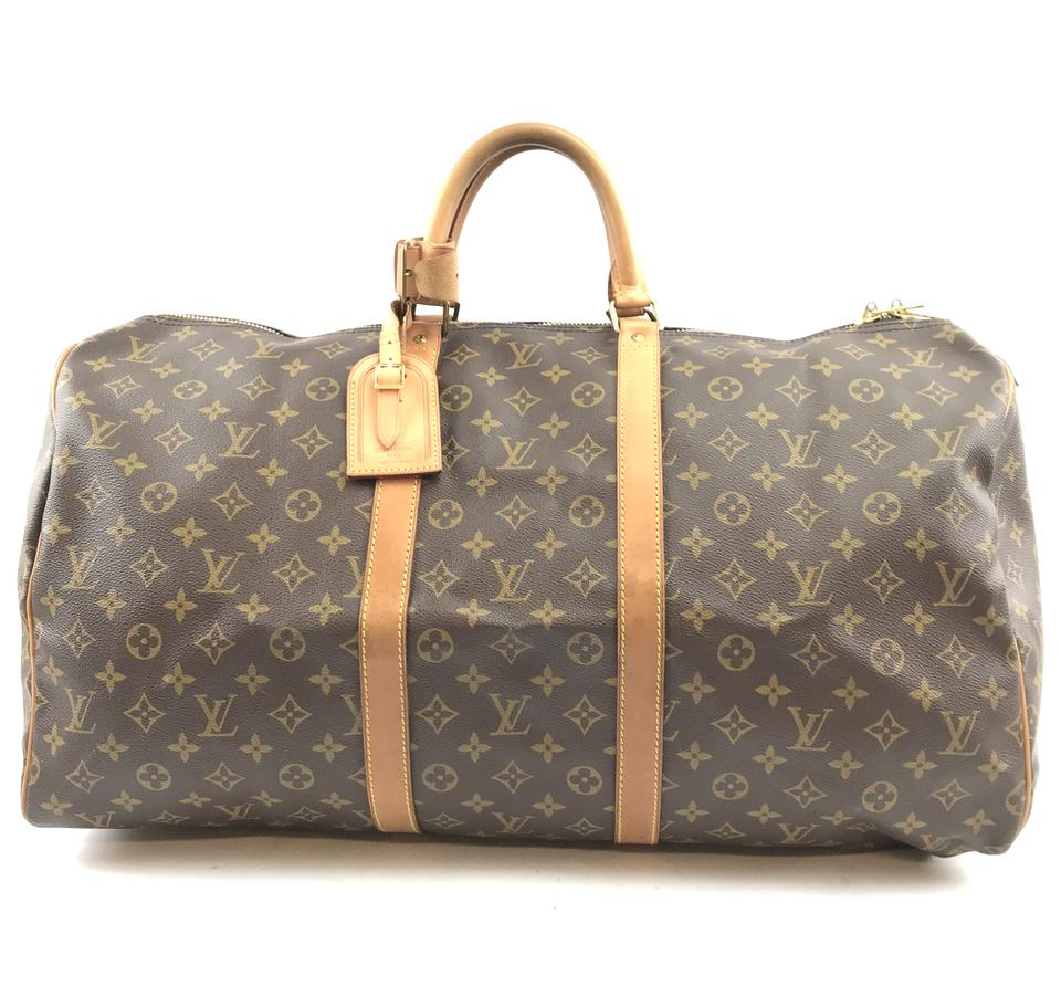 8c36aeb08 Louis Vuitton Keepall Duffle #30767 55 Duffel Brown Monogram Canvas Weekend/Travel  Bag