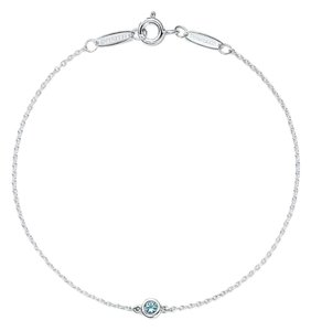 Tiffany & Co. Tiffany@Co Elsa Peretti Color by the Yard bracket in sterling silver with an aquamarine. NEVER WORN