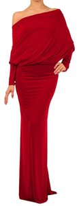 red Maxi Dress by Sexy Diva Reversible Maxi V-neck Stretchy Plus-size