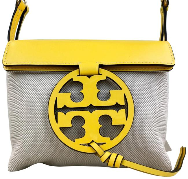 Item - Flap New Miller Leather Yellow Canvas Cross Body Bag