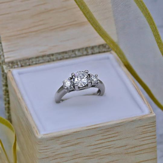 White Perfect Gold Featured with 1.50ct. Tcw Dias Engagement Ring Image 3