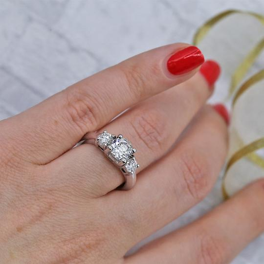 White Perfect Gold Featured with 1.50ct. Tcw Dias Engagement Ring Image 4