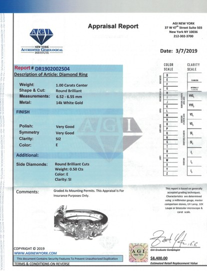 White Perfect Gold Featured with 1.50ct. Tcw Dias Engagement Ring Image 7