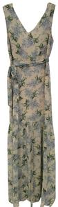 beige, cream, blue, green Maxi Dress by Vici Collection