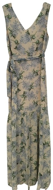 Preload https://img-static.tradesy.com/item/25556733/beige-cream-blue-green-in-a-meadow-floral-long-casual-maxi-dress-size-4-s-0-1-650-650.jpg