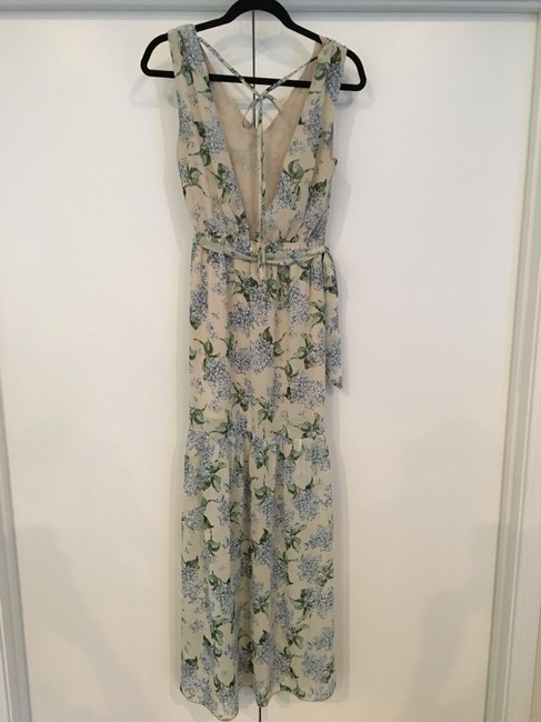 beige, cream, blue, green Maxi Dress by Vici Collection Image 1