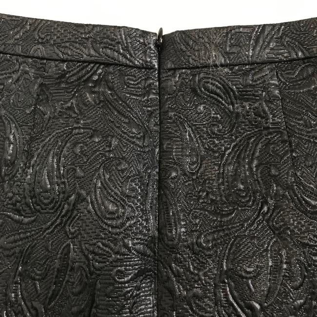 J.Crew Faux Wrap Metallic Brocade Mini Skirt black Image 5