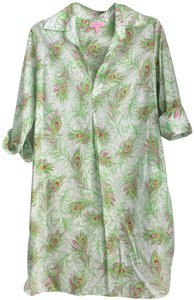 Lilly Pulitzer short dress Multi Peacock Sundress on Tradesy