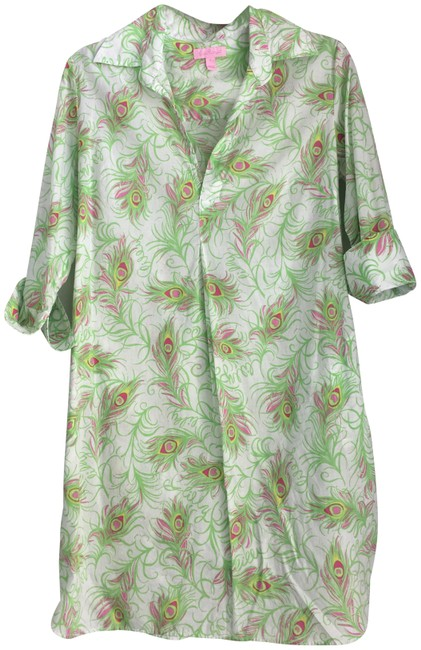 Lilly Pulitzer short dress Multi Peacock Sundress on Tradesy Image 0