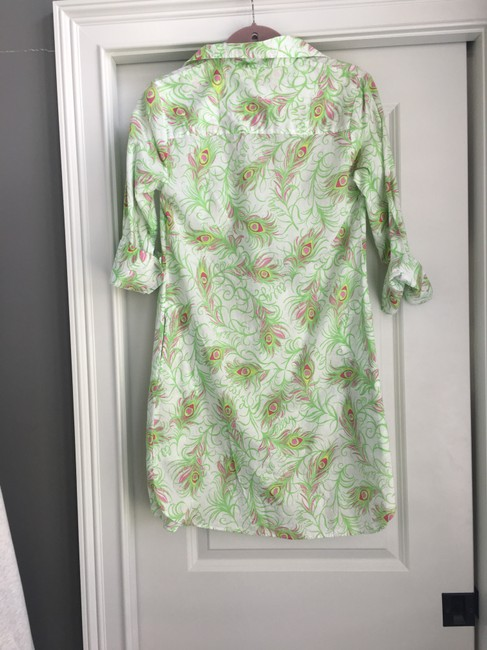Lilly Pulitzer short dress Multi Peacock Sundress on Tradesy Image 1