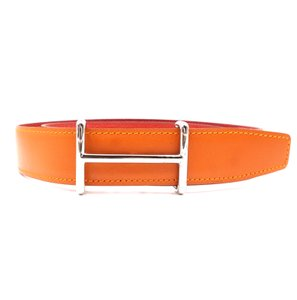 Hermès RARE 32Mm Idem Silver H Belt size 75 Reversible Belt