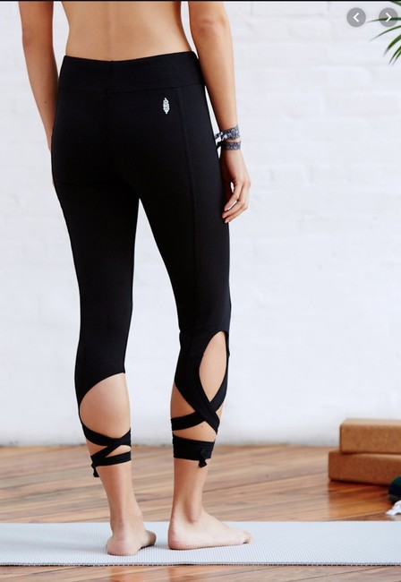 Free People Tie Soft Fitness Sporty Ankle Length Jeggings-Medium Wash Image 1