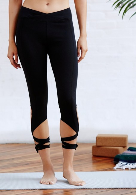 Free People Tie Soft Fitness Sporty Ankle Length Jeggings-Medium Wash Image 2