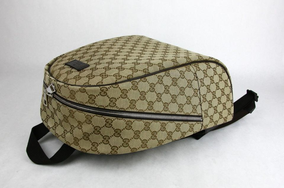 d6ade5414 Gucci Beige/Brown Zipper Top 449906 9873 Beige/Brown Gg Canvas Leather  Backpack - Tradesy