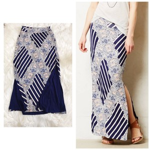 Anthropologie Maxi Skirt multi color