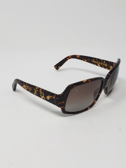 Louis Vuitton Brown tortoiseshell resin Louis Vuitton Obsession Carré sunglasses Image 2