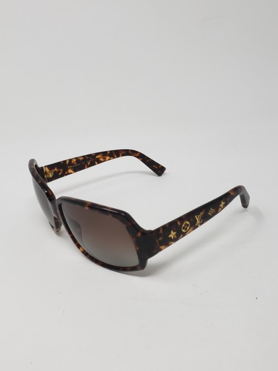 Louis Vuitton Brown tortoiseshell resin Louis Vuitton Obsession Carré sunglasses Image 8