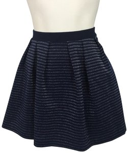 French Connection Skirt blue. & Silver