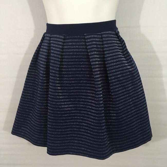 French Connection Skirt blue. & Silver Image 1