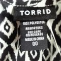 Torrid Top Black and White Image 7