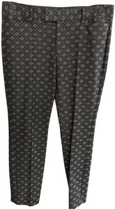 Nanette Lepore Usa Nyc Textured Style#430-5185 Straight Pants Black/Silver