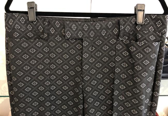 Nanette Lepore Usa Nyc Textured Style#430-5185 Straight Pants Black/Silver Image 2
