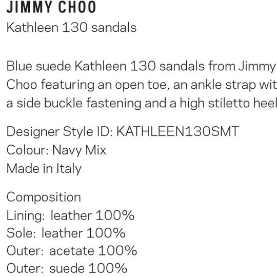 Jimmy Choo Navy with touches of purple, real, and pink Platforms Image 6