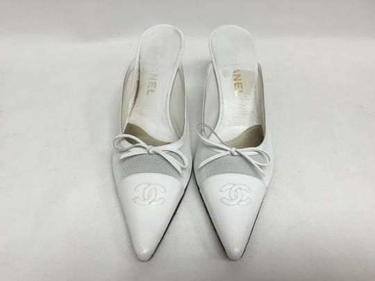 Chanel White Mules Image 1