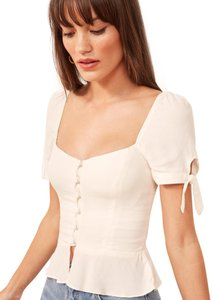 Reformation Top Ivory