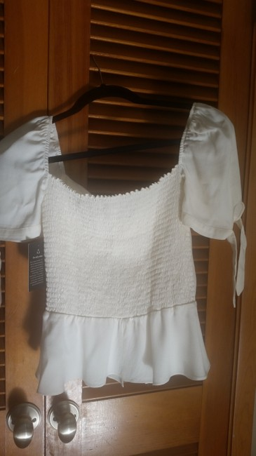 Reformation Top Ivory Image 6