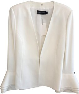 Brandon Maxwell Usa Nyc Bell Cuffs Layered Cream Blazer