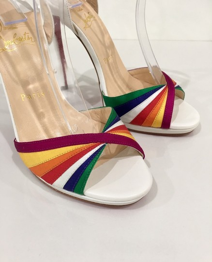 Christian Louboutin Pride Rainbow Red Bottoms Trend Multi Sandals Image 4