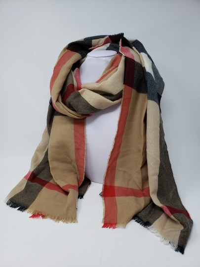 Burberry Brown multicolor Burberry House Check metallic knit scarf Image 1
