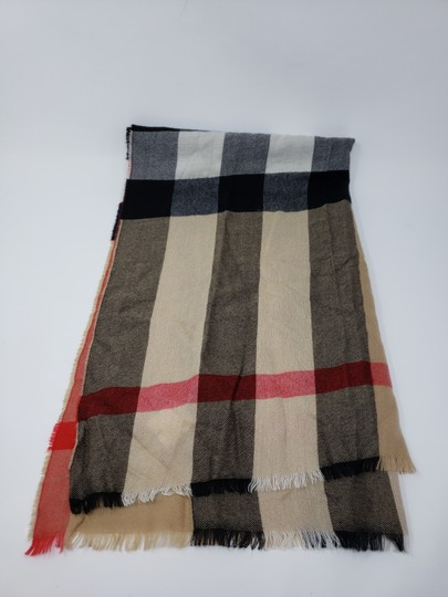 Burberry Brown multicolor Burberry House Check metallic knit scarf Image 10