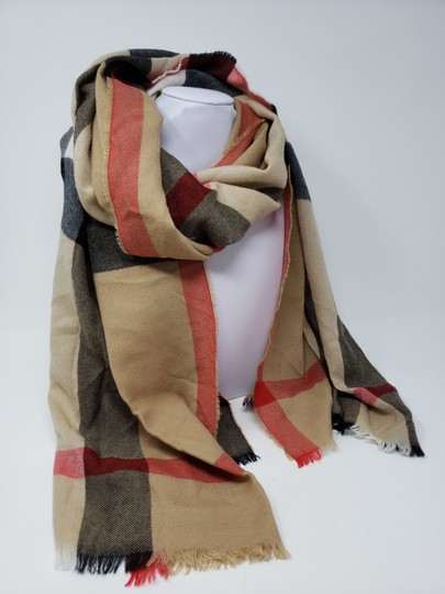 Burberry Brown multicolor Burberry House Check metallic knit scarf Image 3