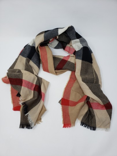 Burberry Brown multicolor Burberry House Check metallic knit scarf Image 4