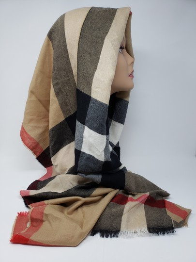 Burberry Brown multicolor Burberry House Check metallic knit scarf Image 6