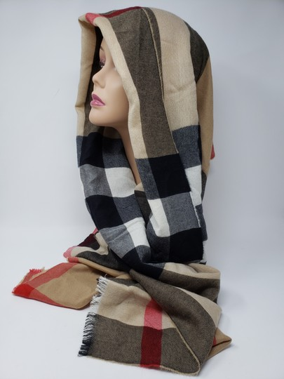 Burberry Brown multicolor Burberry House Check metallic knit scarf Image 7