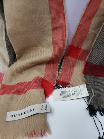 Burberry Brown multicolor Burberry House Check metallic knit scarf Image 8