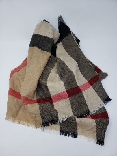 Burberry Brown multicolor Burberry House Check metallic knit scarf Image 9