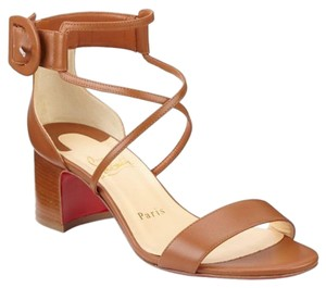 Christian Louboutin Choca Low Heels Cannelle Sandals