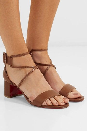 Christian Louboutin Choca Low Heels Cannelle Sandals Image 2