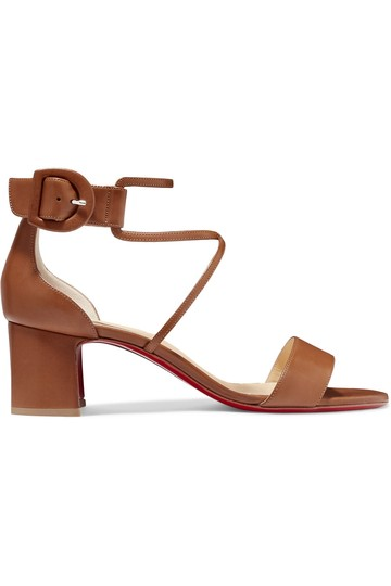 Christian Louboutin Choca Low Heels Cannelle Sandals Image 3