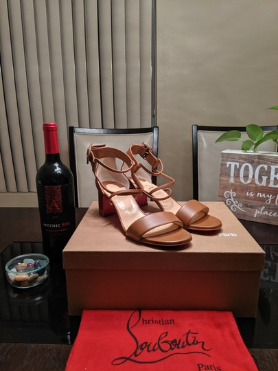 Christian Louboutin Choca Low Heels Cannelle Sandals Image 4